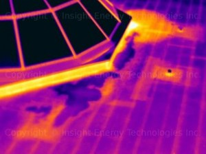 Thermal imaging inspection on a flat roof