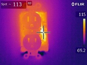 Thermal imaging inspections are used to find overheating wiring
