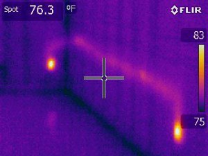 Thermal imaging inspection reveals aluminum wiring over heating